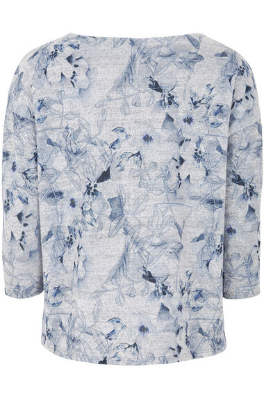 Floral Soft Touch Printed Crew  Neck Sweater