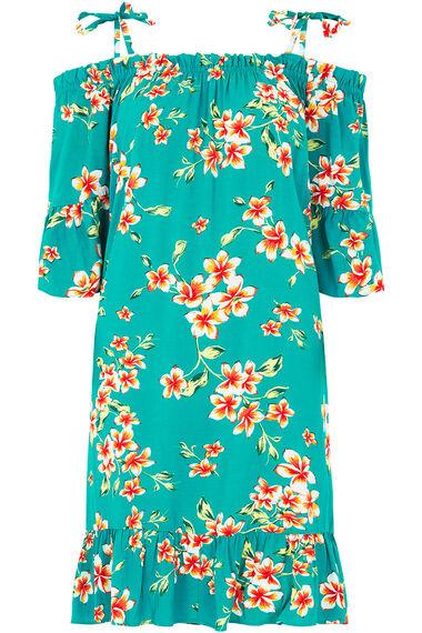 Floral Print Bardot Beach Dress
