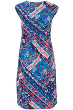 Patchwork Print Cotton Dress