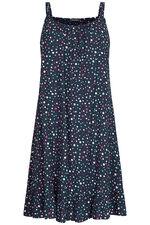 Mini Spot Print Beach Dress with Frill Hem