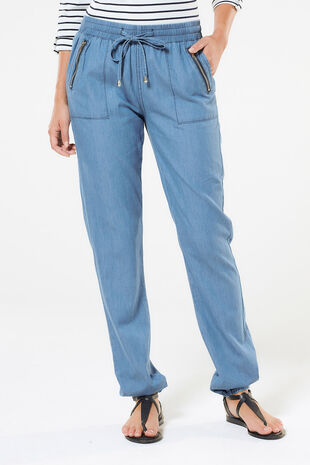 Izabel Chambray Harem Trousers