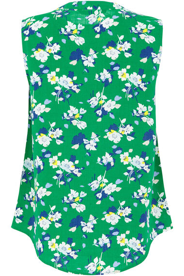 Sleeveless Floral Print Shirt