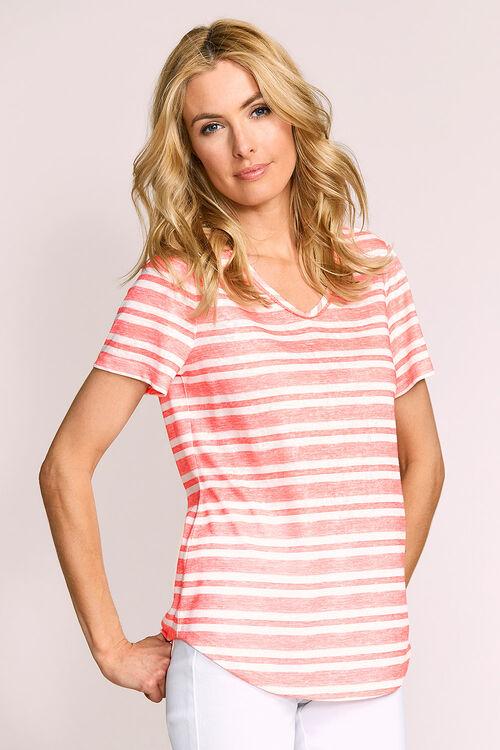 Lace Insert Stripe T-Shirt