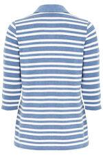 Textured Stripe Rugby T-Shirt