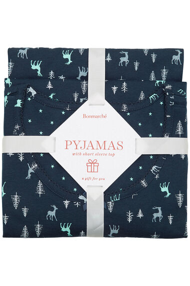 Gift Wrapped Stag Print PJ Set