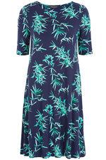 Bamboo Print Swing Dress