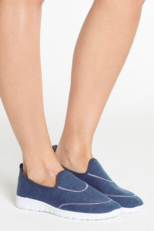 Cushion Walk Denim Effect Slip On Shoe