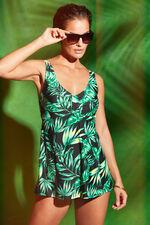 Leaf Print Swimdress