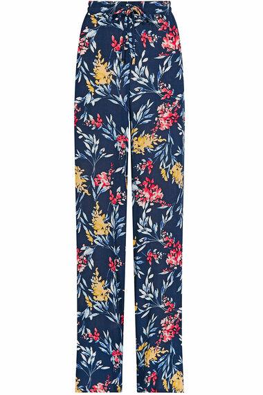 Printed Crepe Wide Leg Trousers
