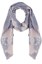 Floral Printed Jacquard Scarf