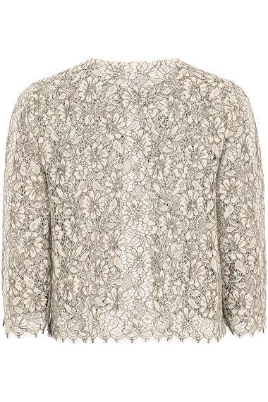 Lace Scalloped Edge Jacket