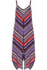 Stripe Print Hanky Hem Dress