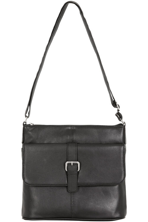 Leather Cross Body Bag with Buckle