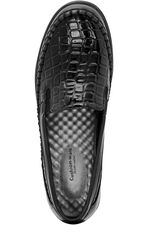 Cushion Walk Croc Effect Slip On Shoe