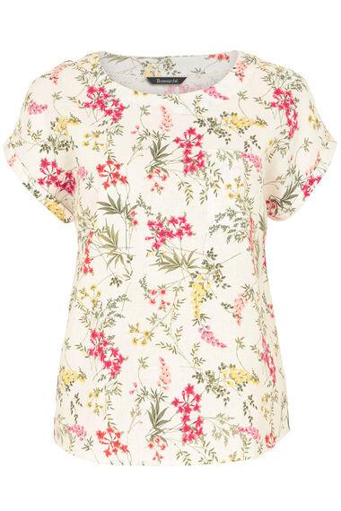Floral Print Linen Mix Top