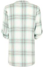 Longline Button Through Check Shirt