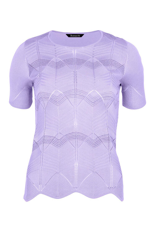 Short Sleeve Jumper With Glitter Yarn