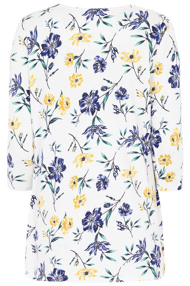 Floral Printed Tunic with Scarf