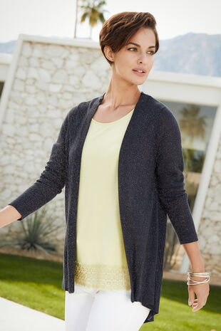 Chevron Stitch Longline Cardigan