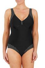 White Spot Trim Swimsuit