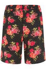 Floral Spot Belted Viscose Shorts