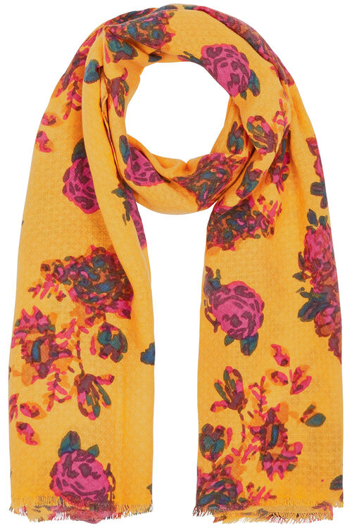 Textured Floral Printed Scarf