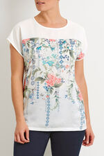 Floral Printed Front T-Shirt