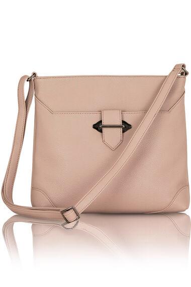 Tab Detail Cross Body Bag