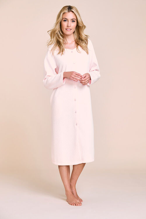 Quilted Button Through Gown