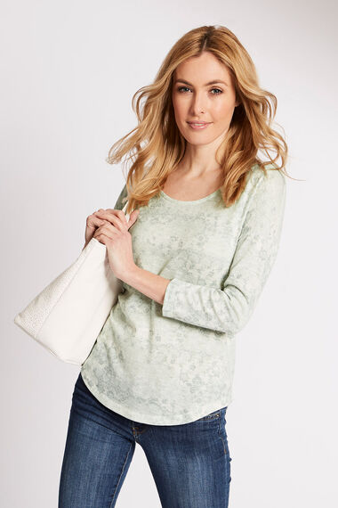 Patchwork Printed Knitted Top