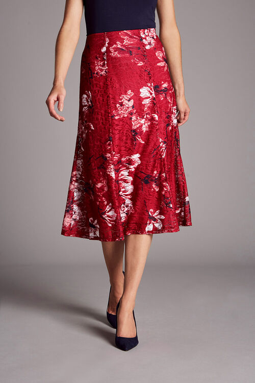 Printed Lace Skirt