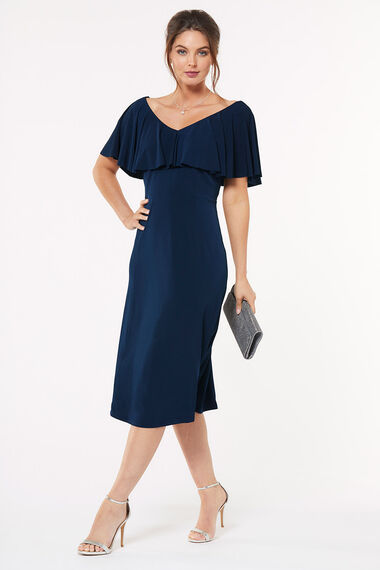 Frill Top Fit and Flare Dress