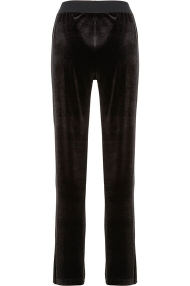Signature Straight Leg Velour Trousers