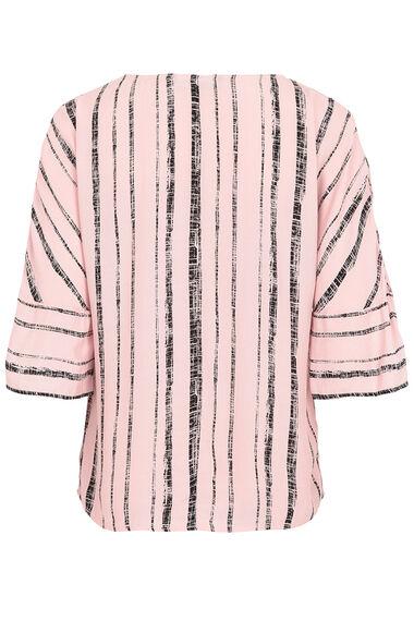 Stripe Print Oversized Top