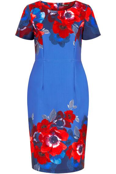 Poppy Border Print Shift Dress