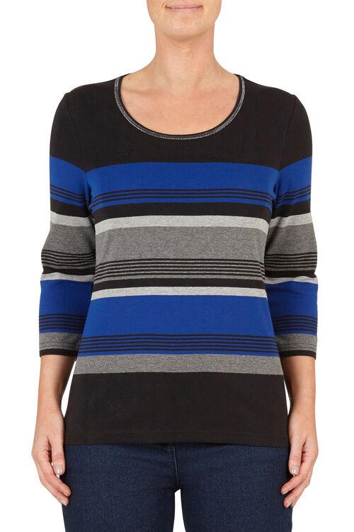 Applique Neckline T-Shirt