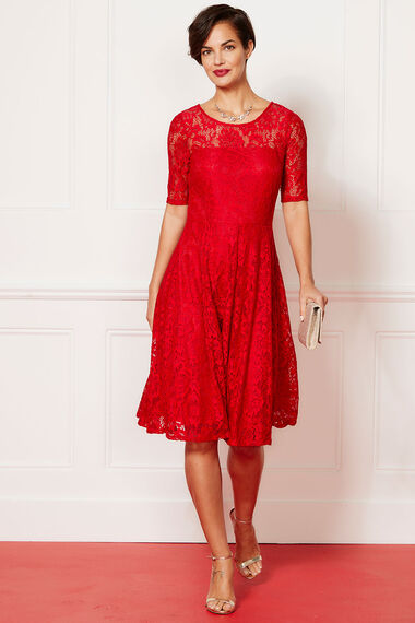 Lace Fit and Flare Dress