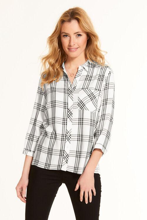 Check Shirt With Collar