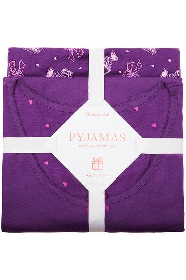 Gift Wrapped Perfume Print PJ Set