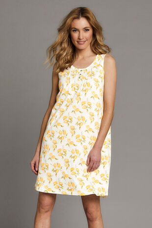 Lemon Sleeveless Nightshirt