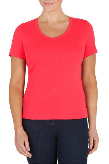 V Neck Cotton T-Shirt