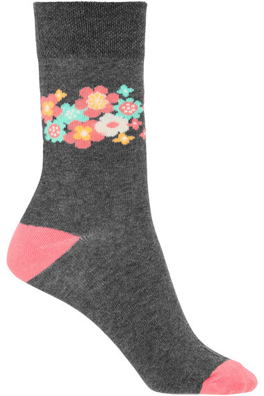 3 Pack Daisy Printed Sock