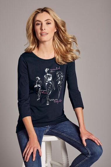 Geisha Girl Print T-Shirt