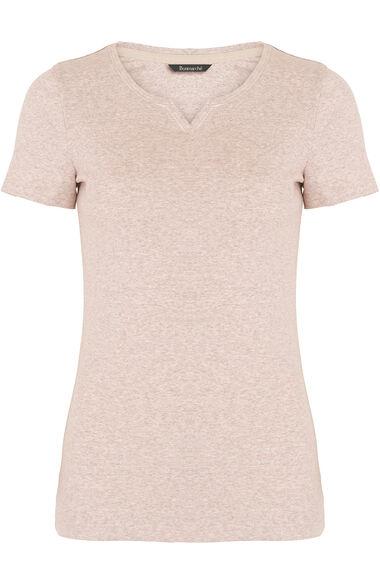 Pure Cotton V Neck T-Shirt