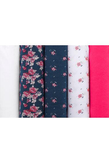 5 Pack Cluster Floral Briefs