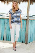 Stripe & Rose Crochet T-Shirt