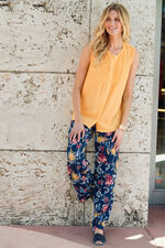 Sleeveless Top with Button and Pintuck Detail