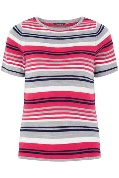Supersoft Short Sleeve Stripe Jumper