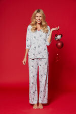 Gift Wrapped Reindeer Print PJ Set