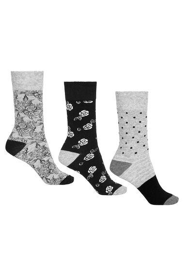 3 Pack Lurex Socks